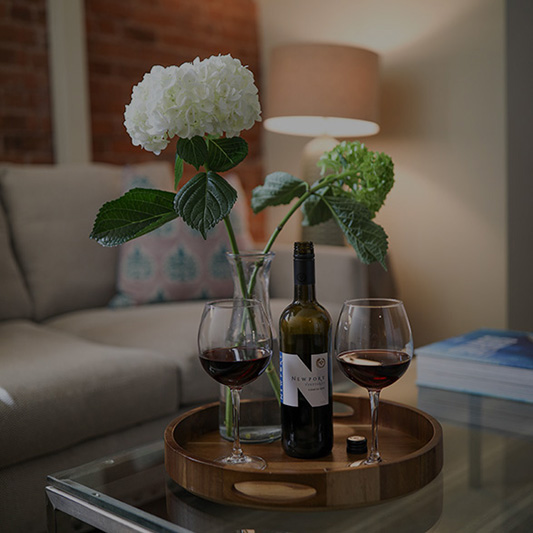 Relaxing with Wine